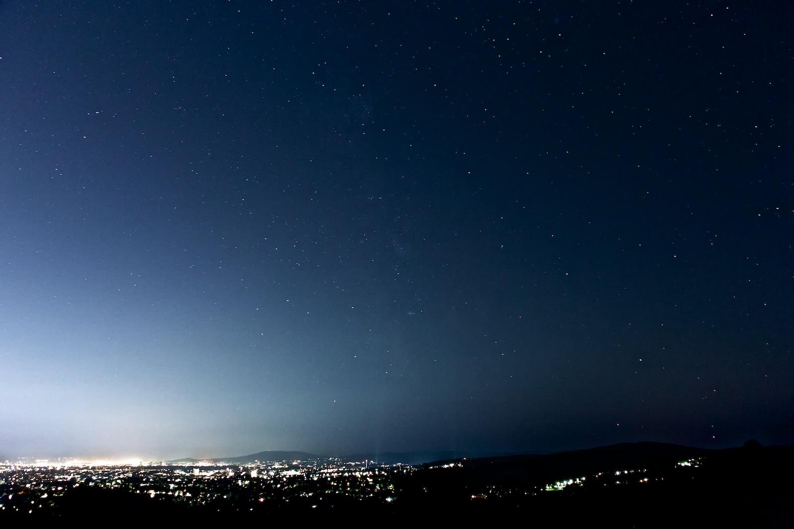 Nachthimmel über Wien, Lichtverschmutzung