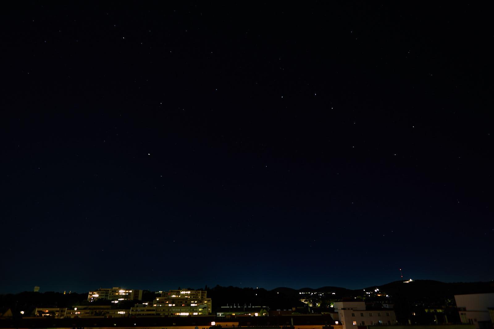 Night sky Vienna