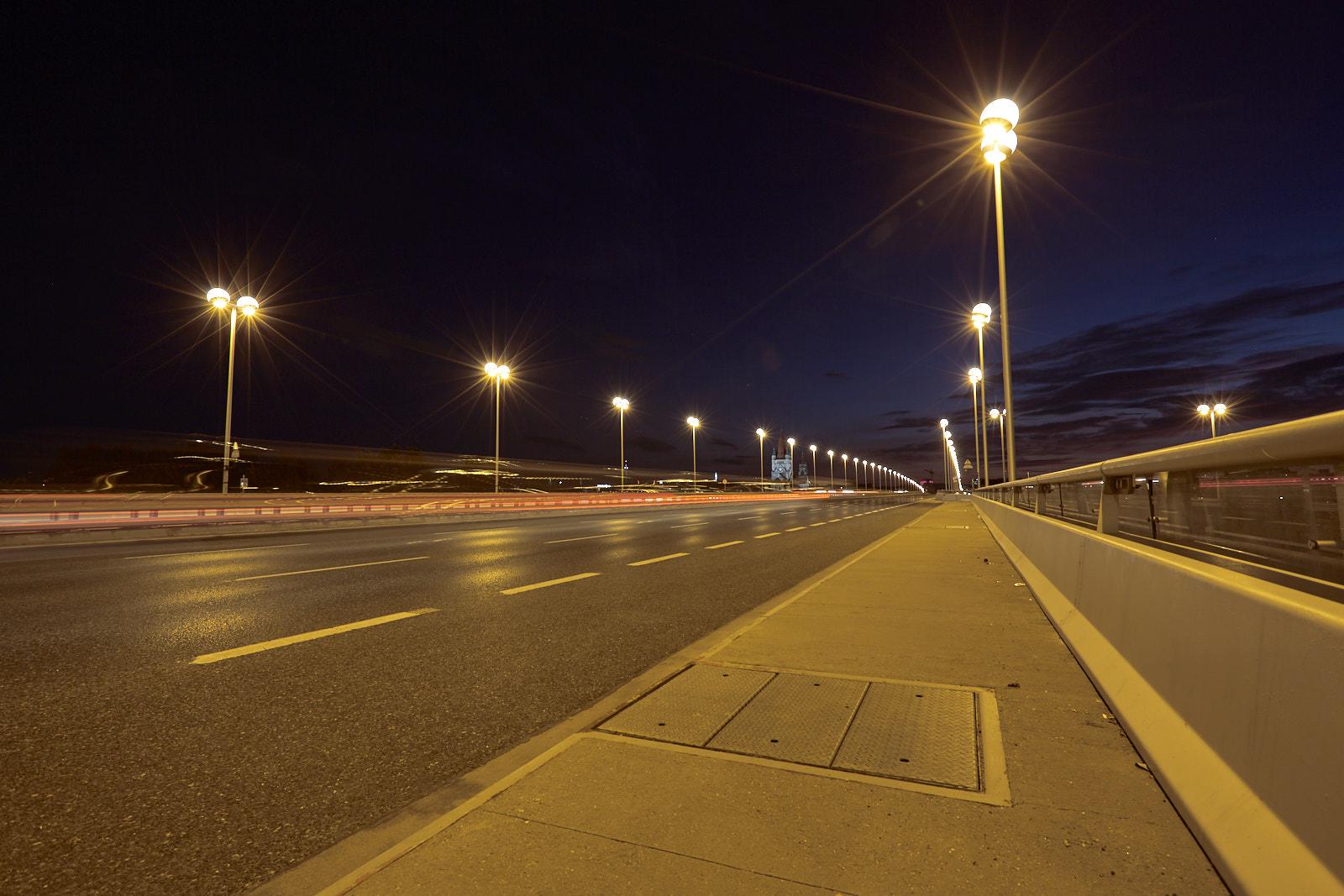 Reichsbrücke by night - Vienna